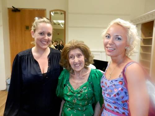 Dunja Lavrova with Ida Haendel and colleague, Anna Stokes (Flautist)