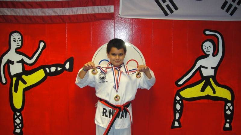 Saud Shah won 1st place fighting 1st breaking & 1st weapons