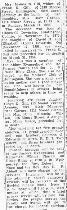 Gill, Maude Edwards 1956