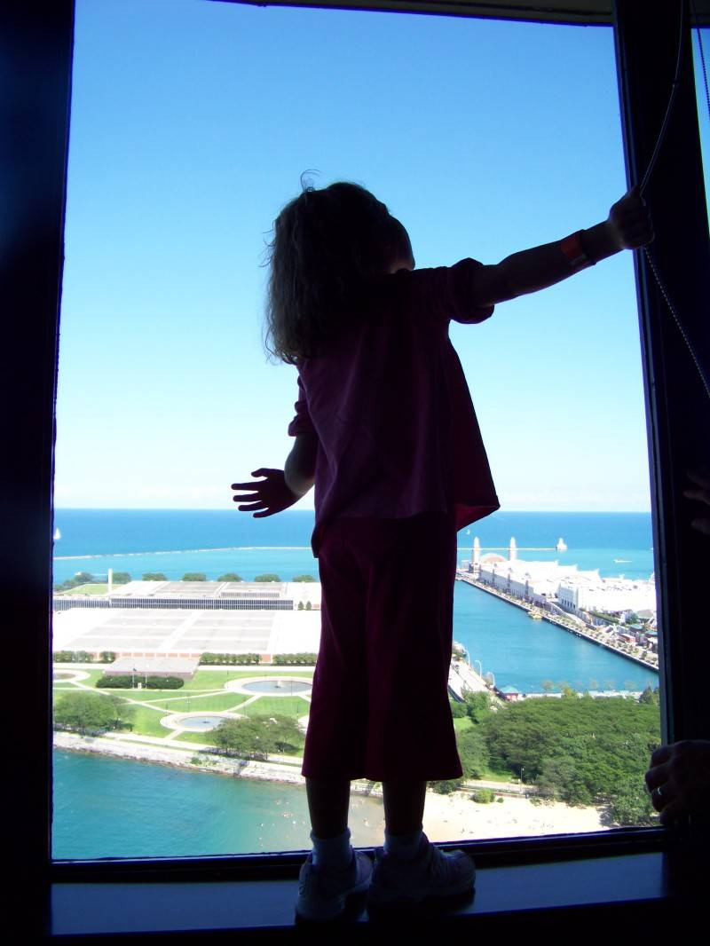 """Haley on the top floor of the """"W"""" hotel"""