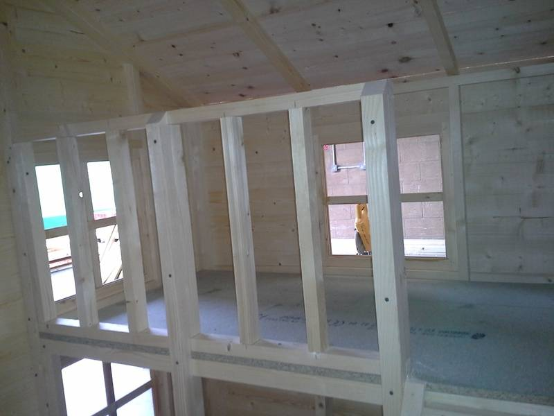 Two Storey Wooden Playhouse (6'x8')