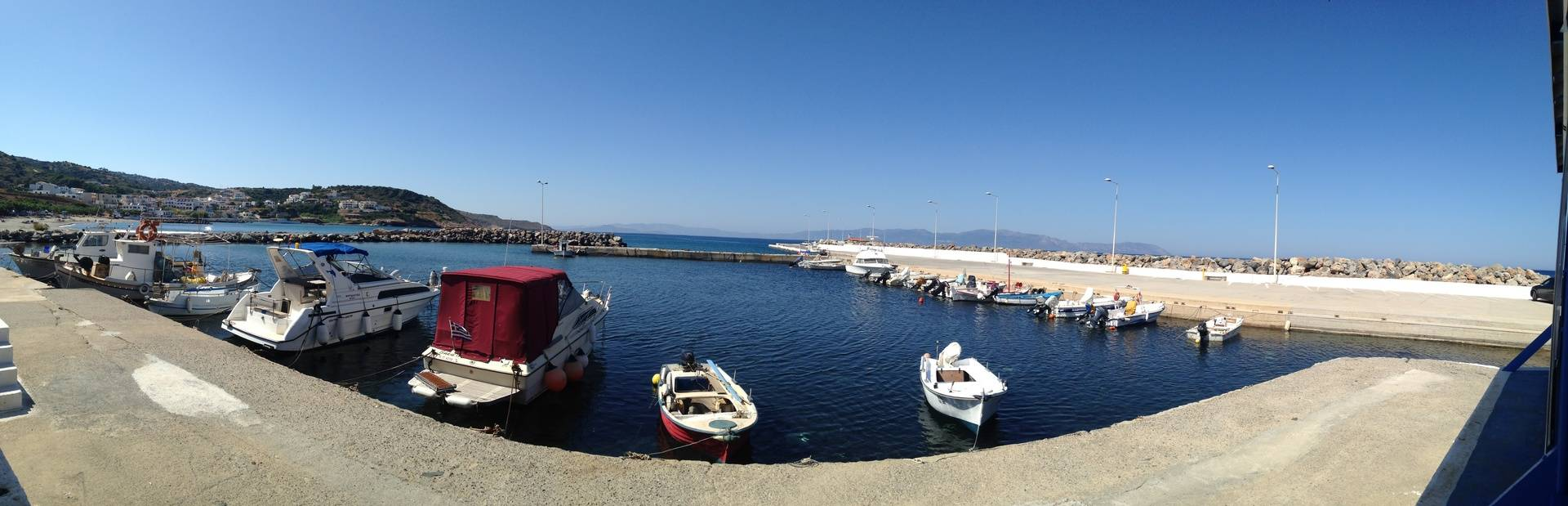 Agia Pelagia our local fishing harbour