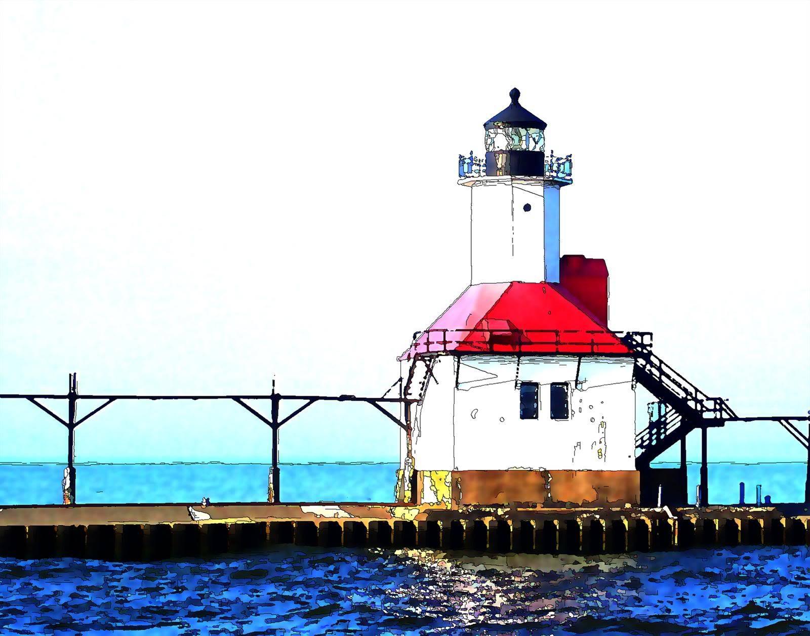 St. Joe North Pier Lighthouse