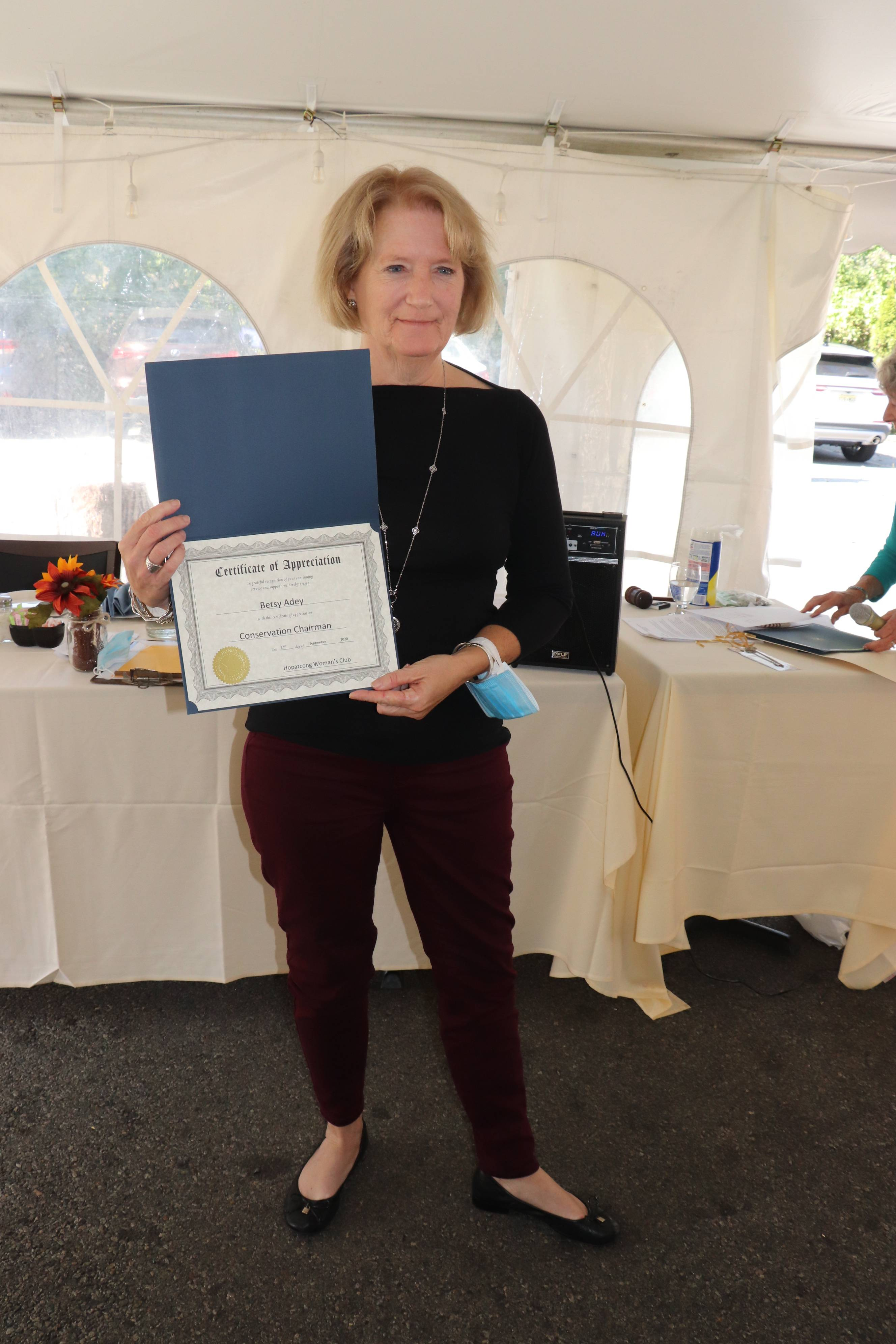 Betsy Adey, Conservation Chairman