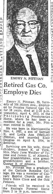 Pittman, Emory N. 1973