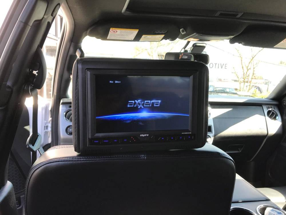 2017 Ford Expedition Axxera headrest DVD multimedia system