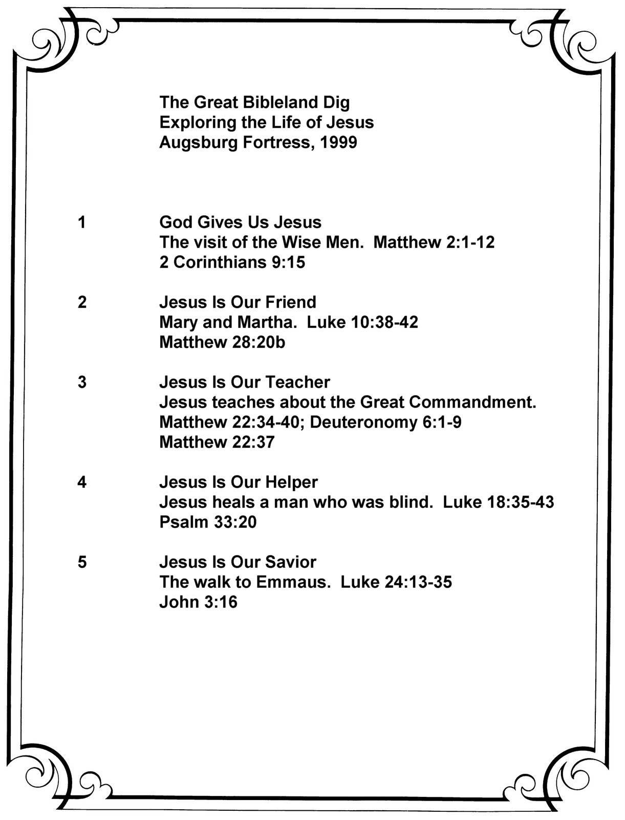 Great Bibleland Dig Summary