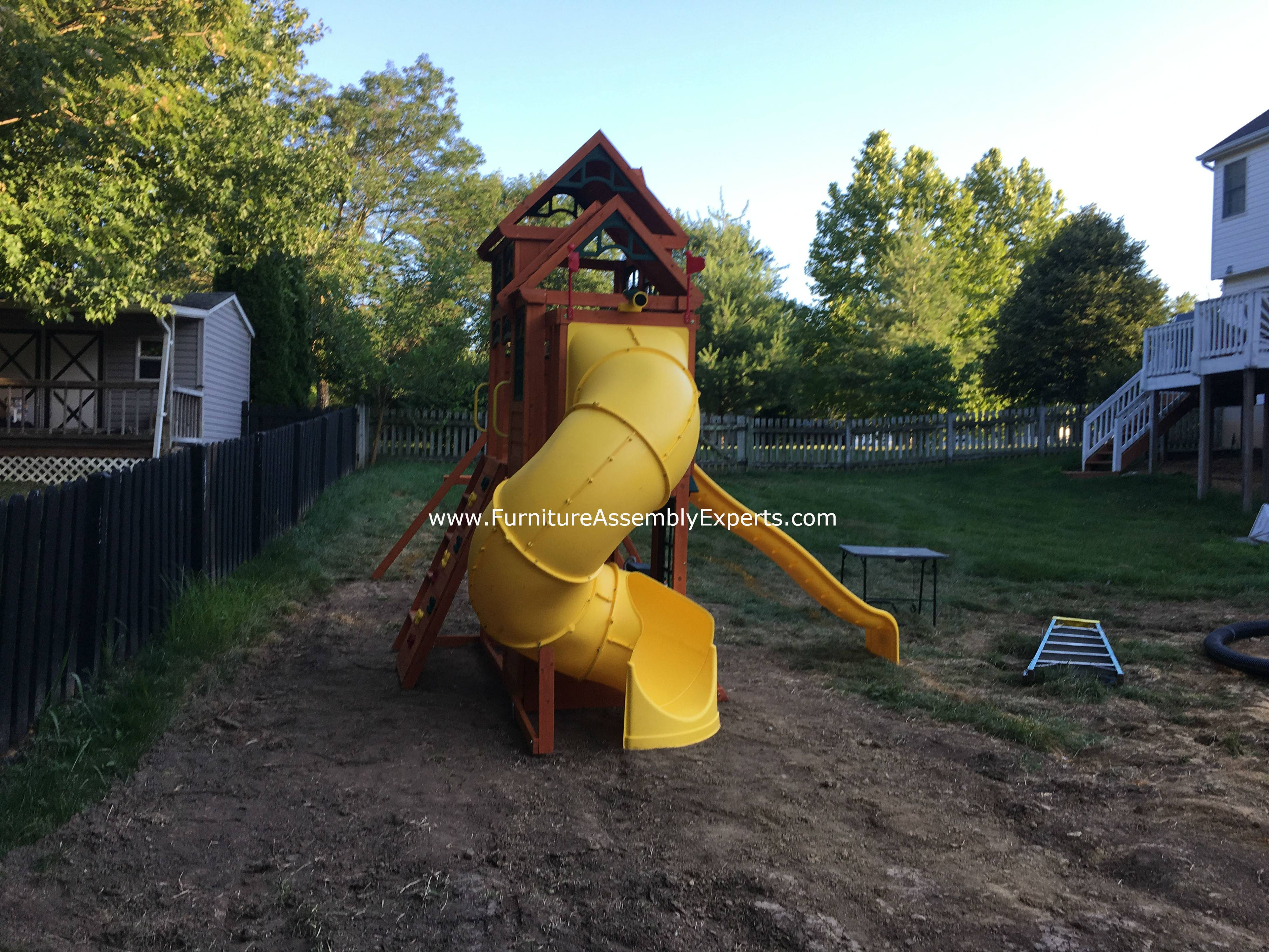 Cedar summit canyon ridge swing set assembly service in bowie MD