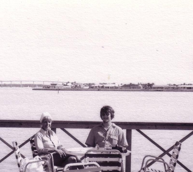 Mom, me, January 1977
