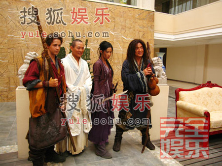 The cast of Forbidden Kingdom