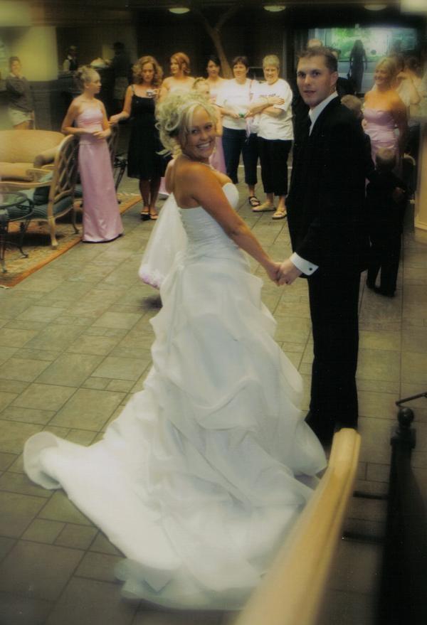 Sara on her wedding day