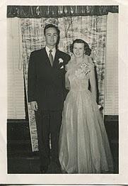 Theodore Deering Manning and Sarah Ann Jonson Wedding 1953