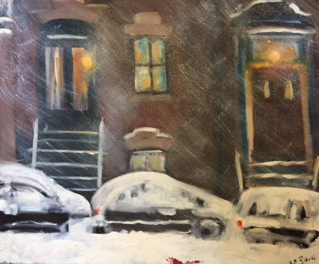 Snow in Crown Heights #3