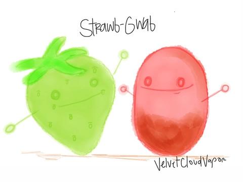 Strawb-Gwab Velvet Cloud E Liquid