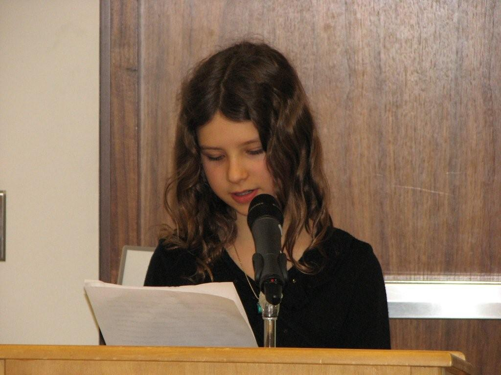 Genevieve read her story