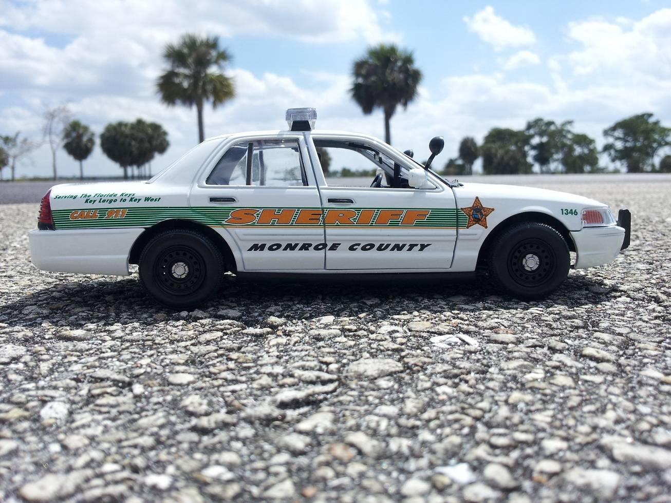 Key West Florida Police Car Decals 1:24 Custom