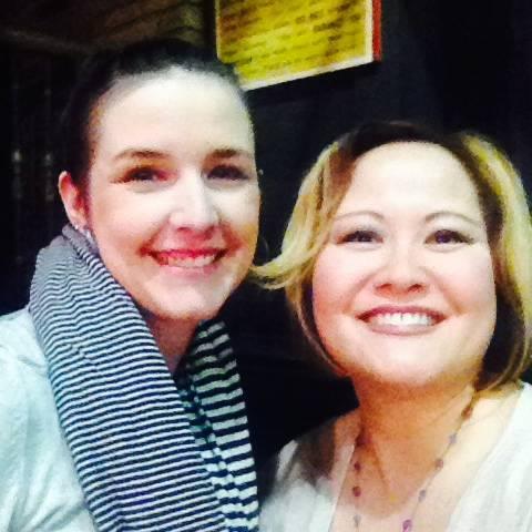 Jen and a fan