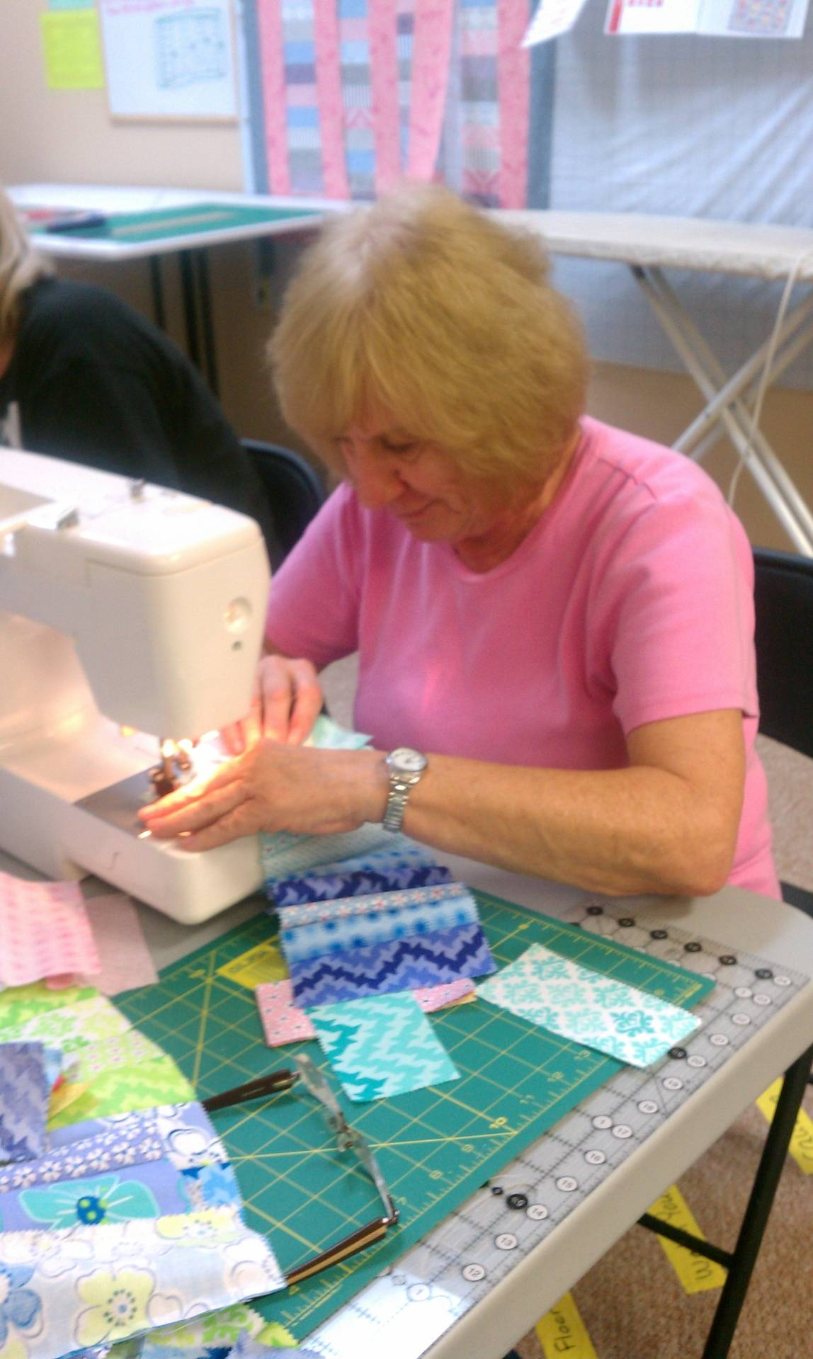 One charm pack quilt class.