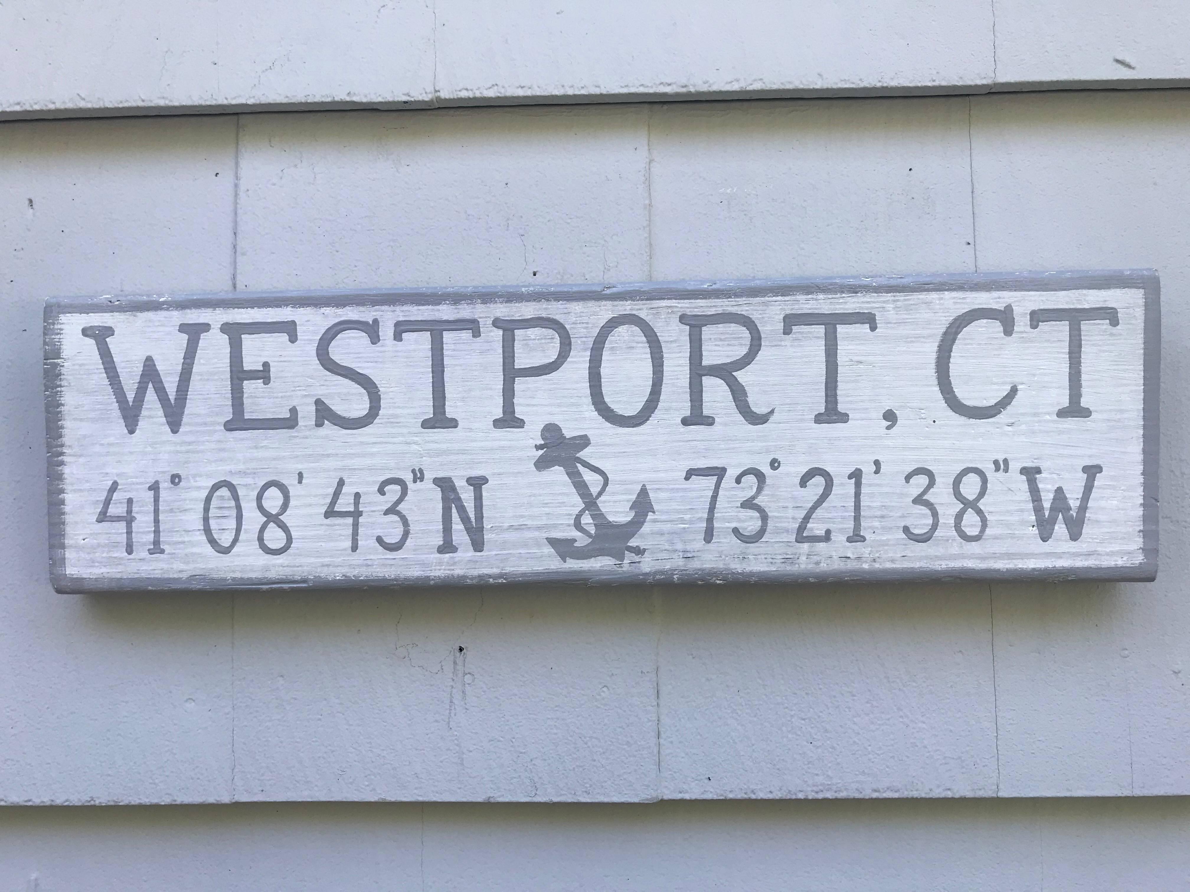 Westport, CT sign