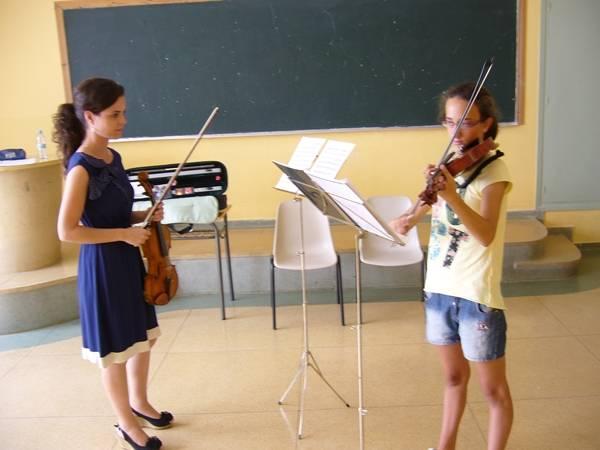 Clase de violín con Paula
