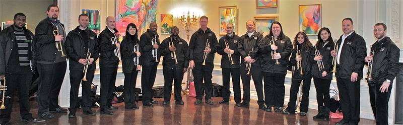 Dr. Douglas Hedwig and His Trumpet Students