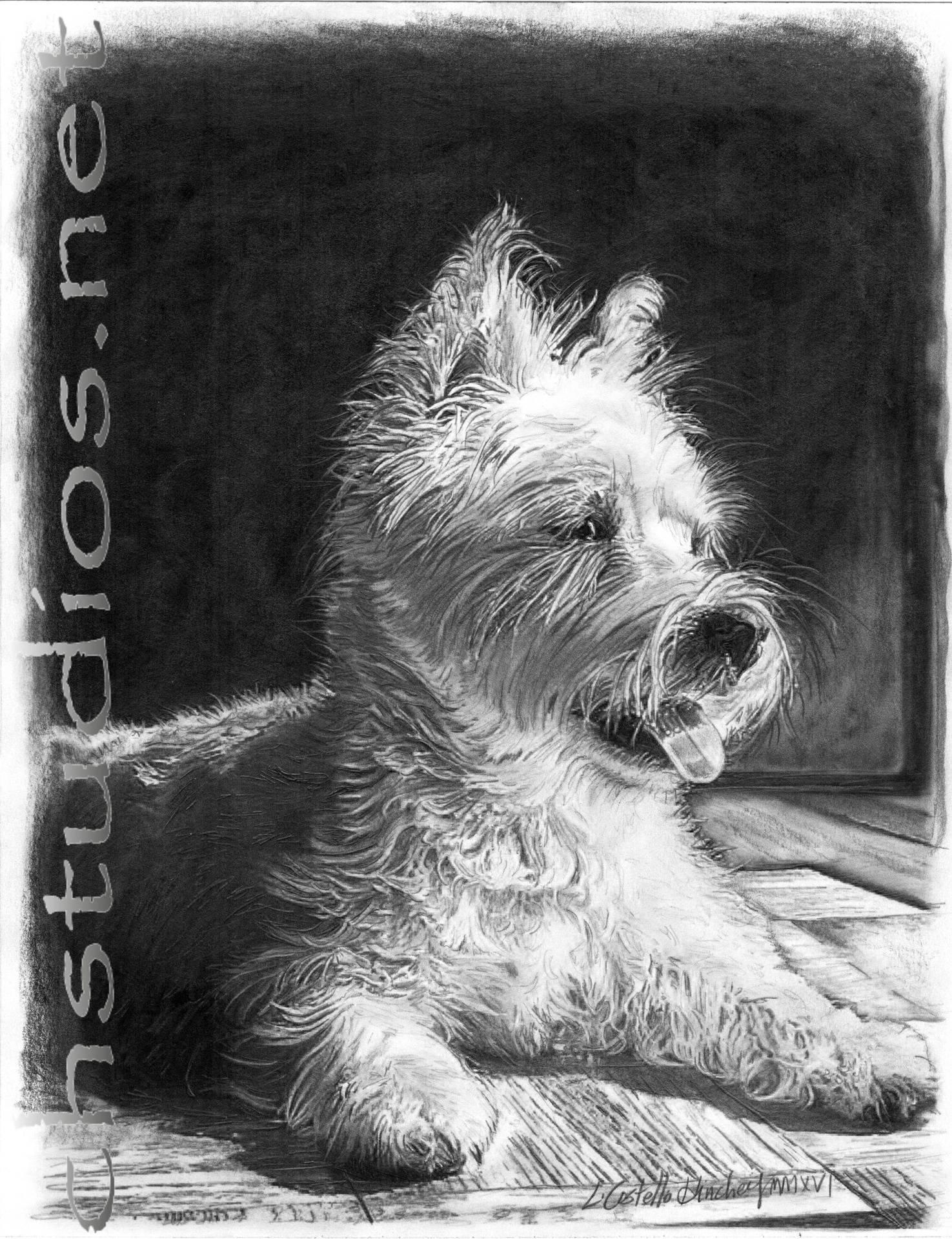 Wrigley Westie Pet Portrait Commission