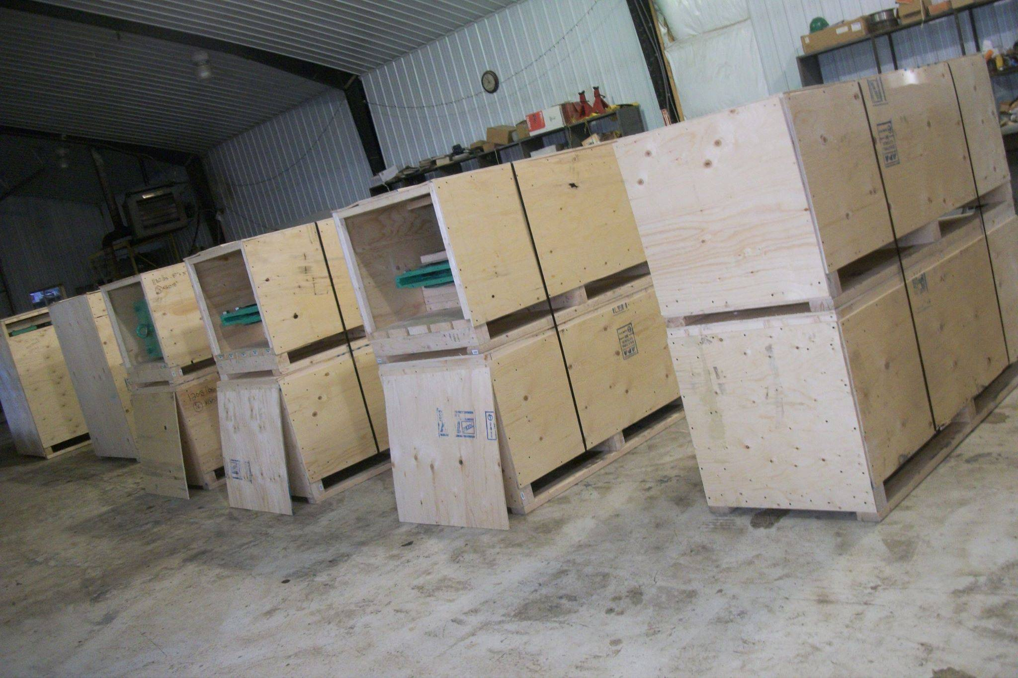Crated valves