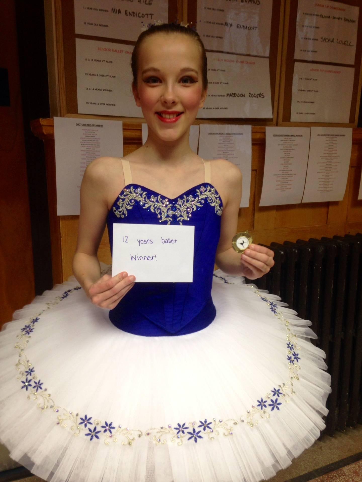 Ellie Mulry Ballet solo Winner