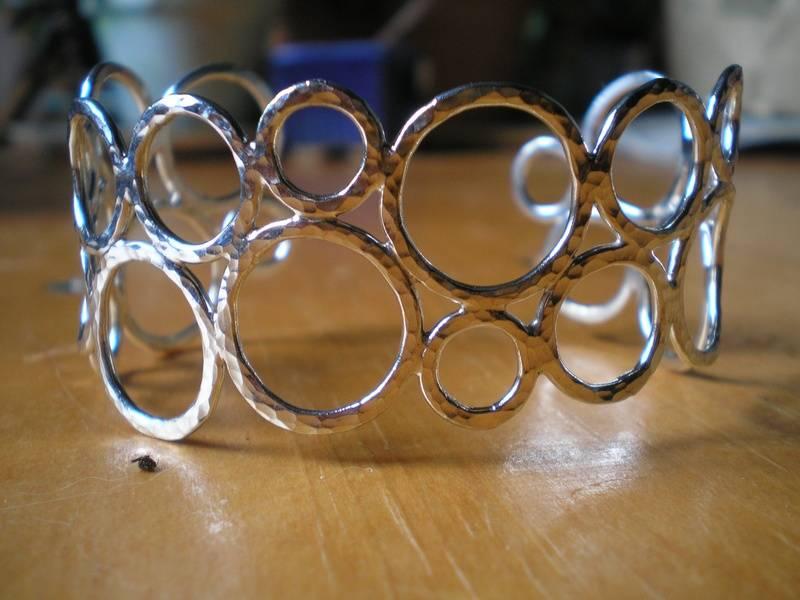 Sterling Silver Bubble Cuff