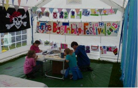 Hard at work in the drop-in craft session on Sunday