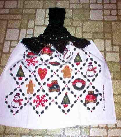 Gingerbread & Snowmen Christmas Kitchen Towel