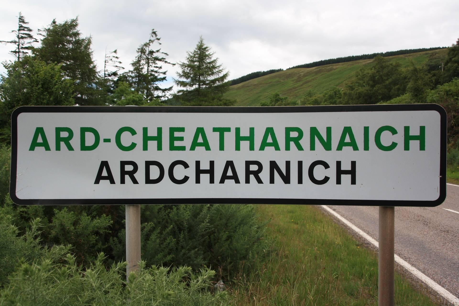 Ardcharnich, where my grandfather was born