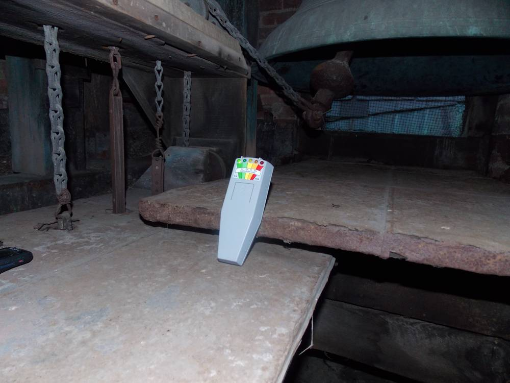 KII meter placed in the upper area of the bell tower.