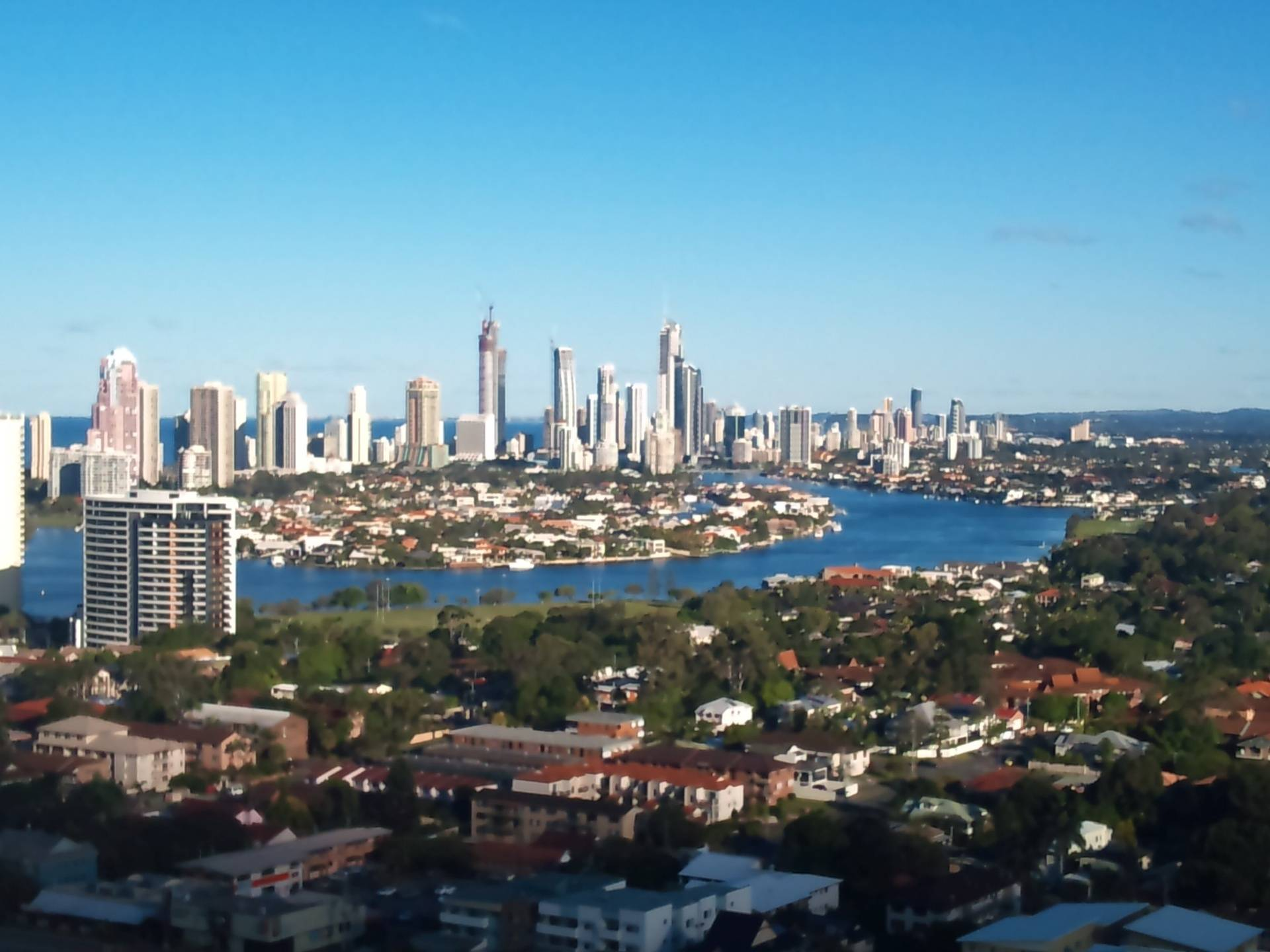 Gold Coast Skyline from Southport Day