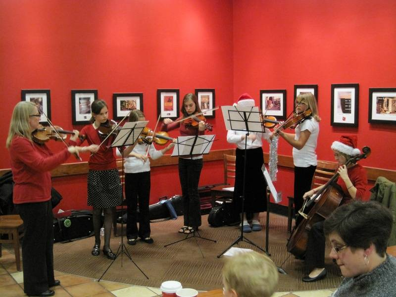Christmas Music at the Book Store