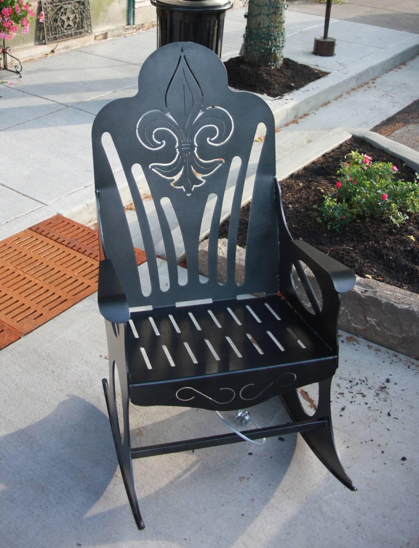 Fluer De Lis Rocking Chair