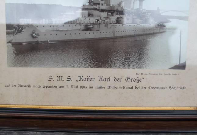 Vokieciu karo laivas Kaizer. Nuotrauka. Kaina 47