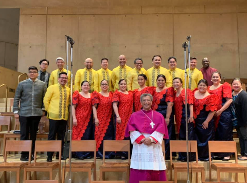 Bishop Alex Aclan at Cathedral of Our Lady of Angels