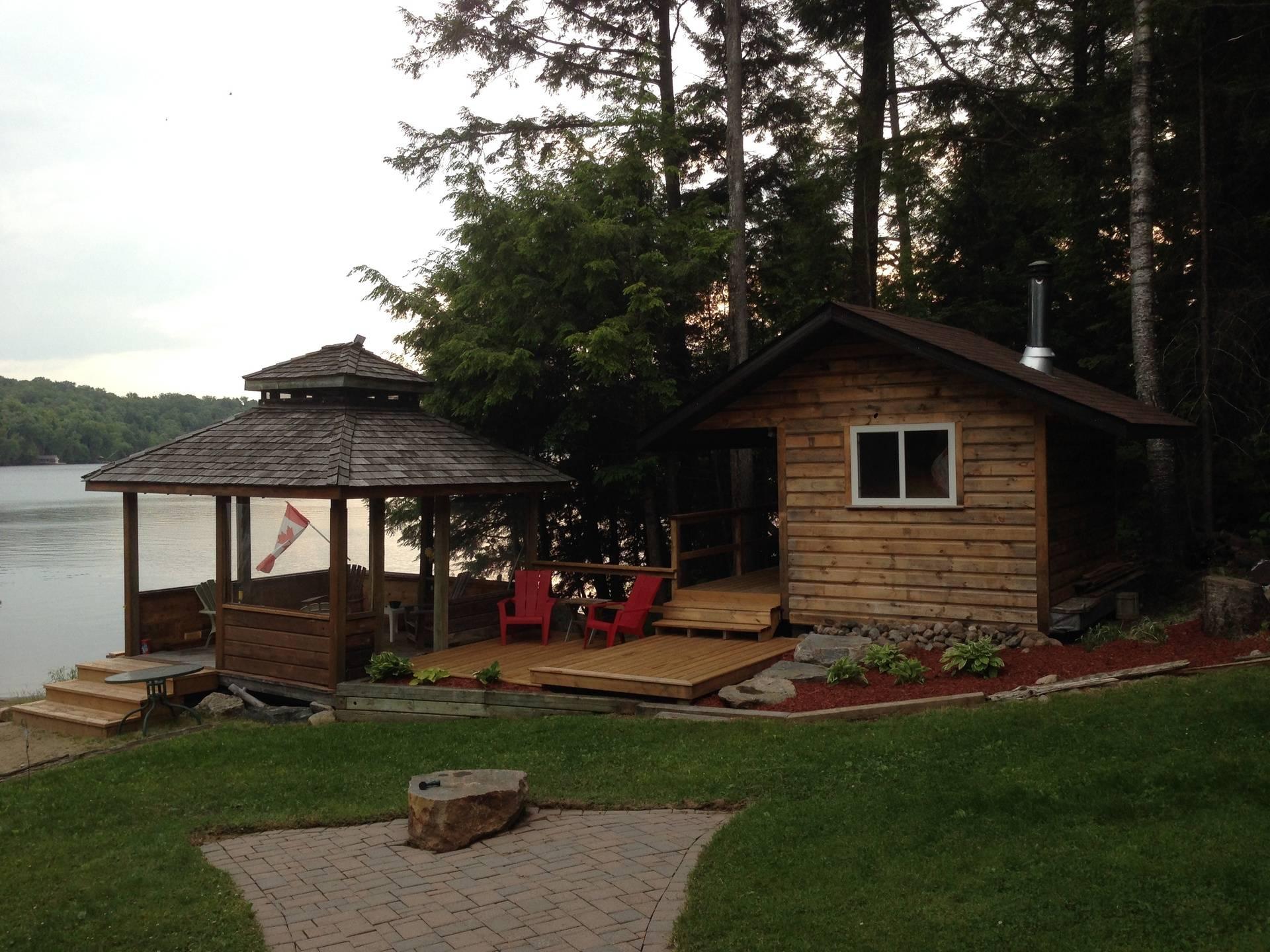 New Sauna and Deck