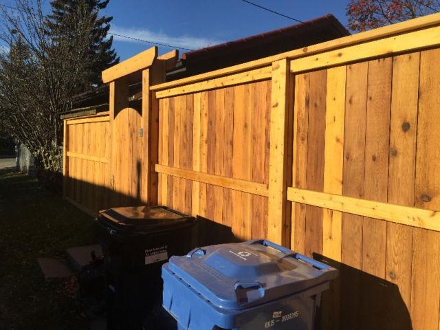 Fence fortress two cedar