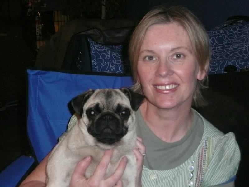 Nina & I at the World Dog Show in Stockholm 2009
