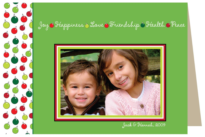 Seasonal Sentiments Holiday Card