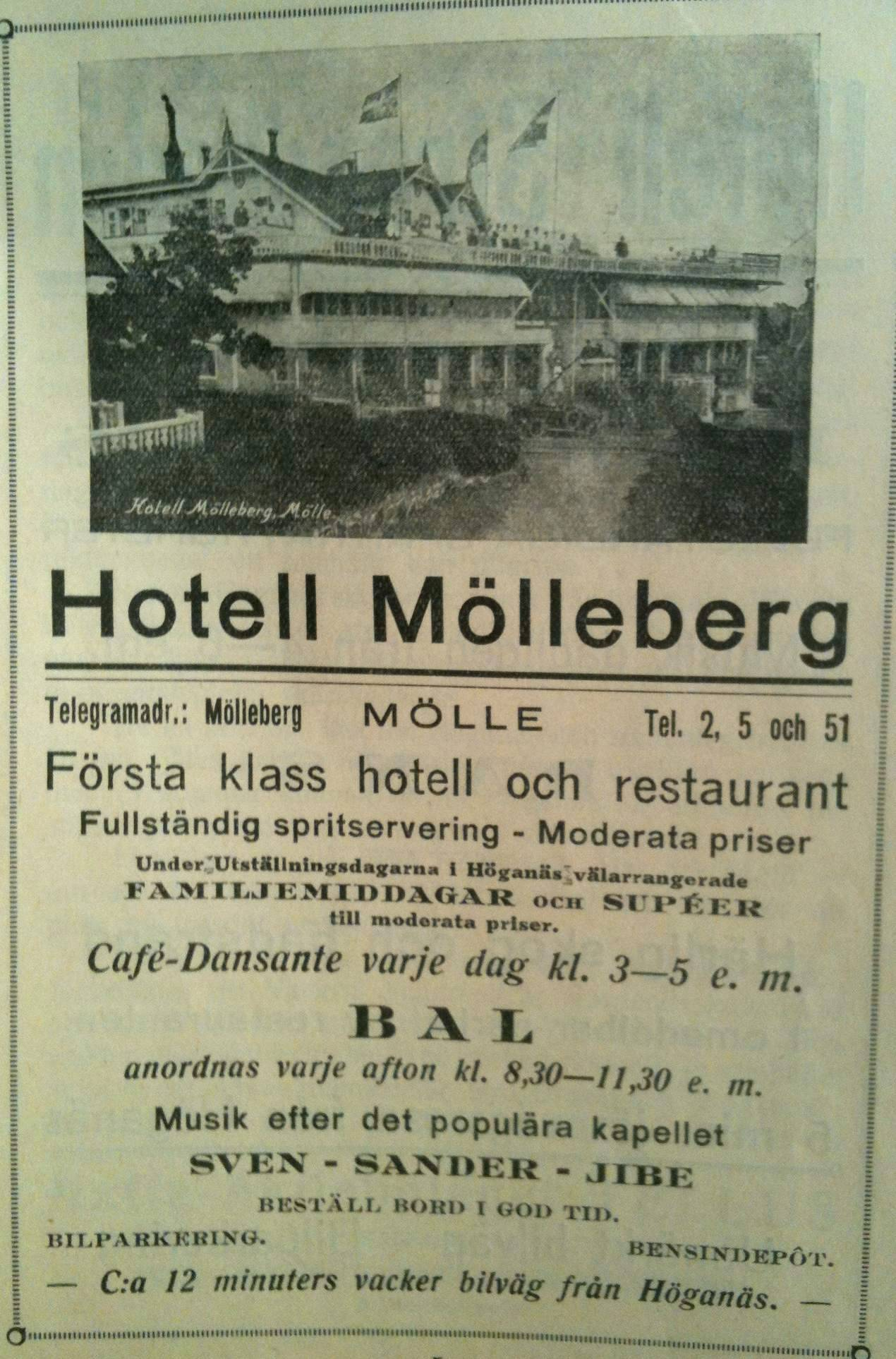 Hotell Molleberg 1928