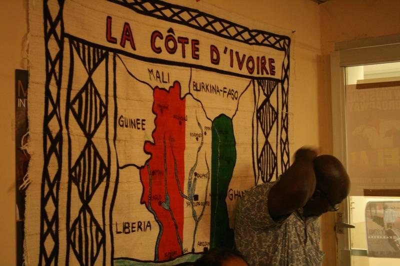 Map of Ivory Coast