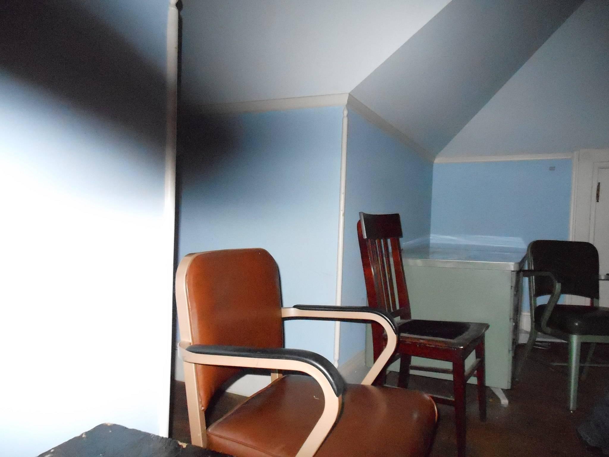 Black streak in John Widders room at Houghton