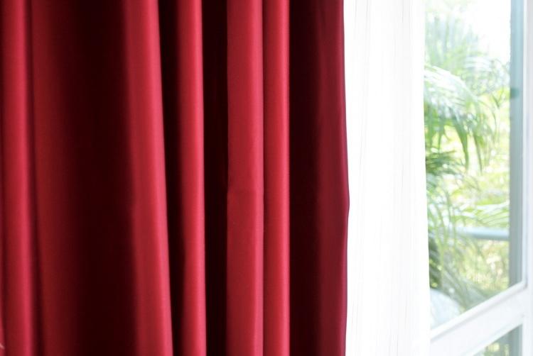 Luxury Fine  Red  Silk Satin Blackout Curtains Panel Pinch Pleat 25W X 96L