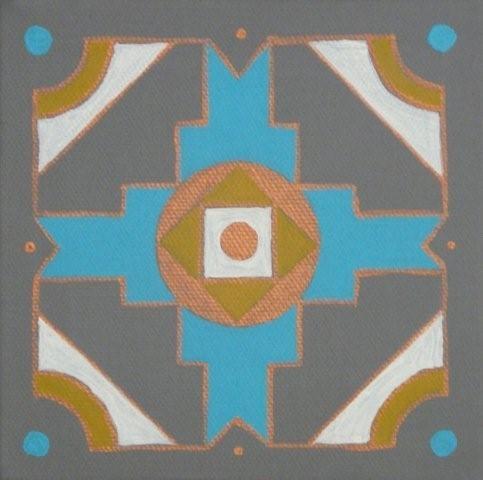 African panel turq/copper