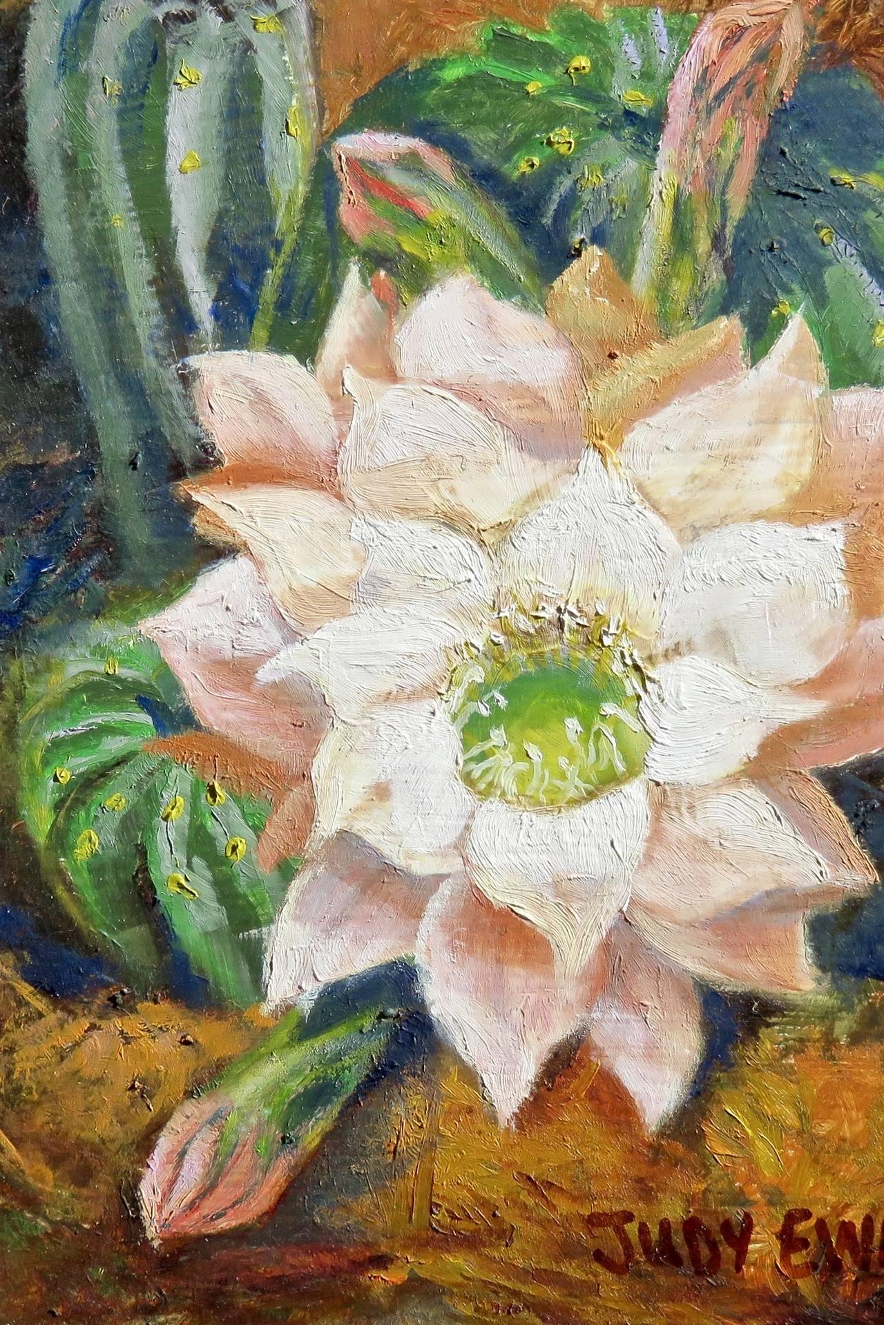 Peach Cactus Flower