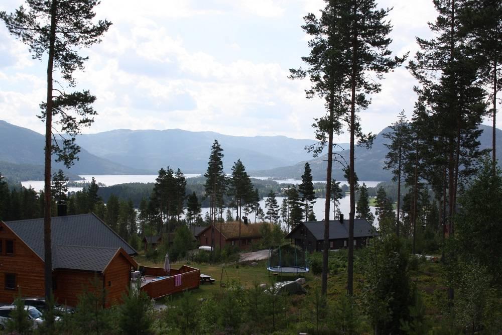 Uitzicht vanaf varanda bungalow