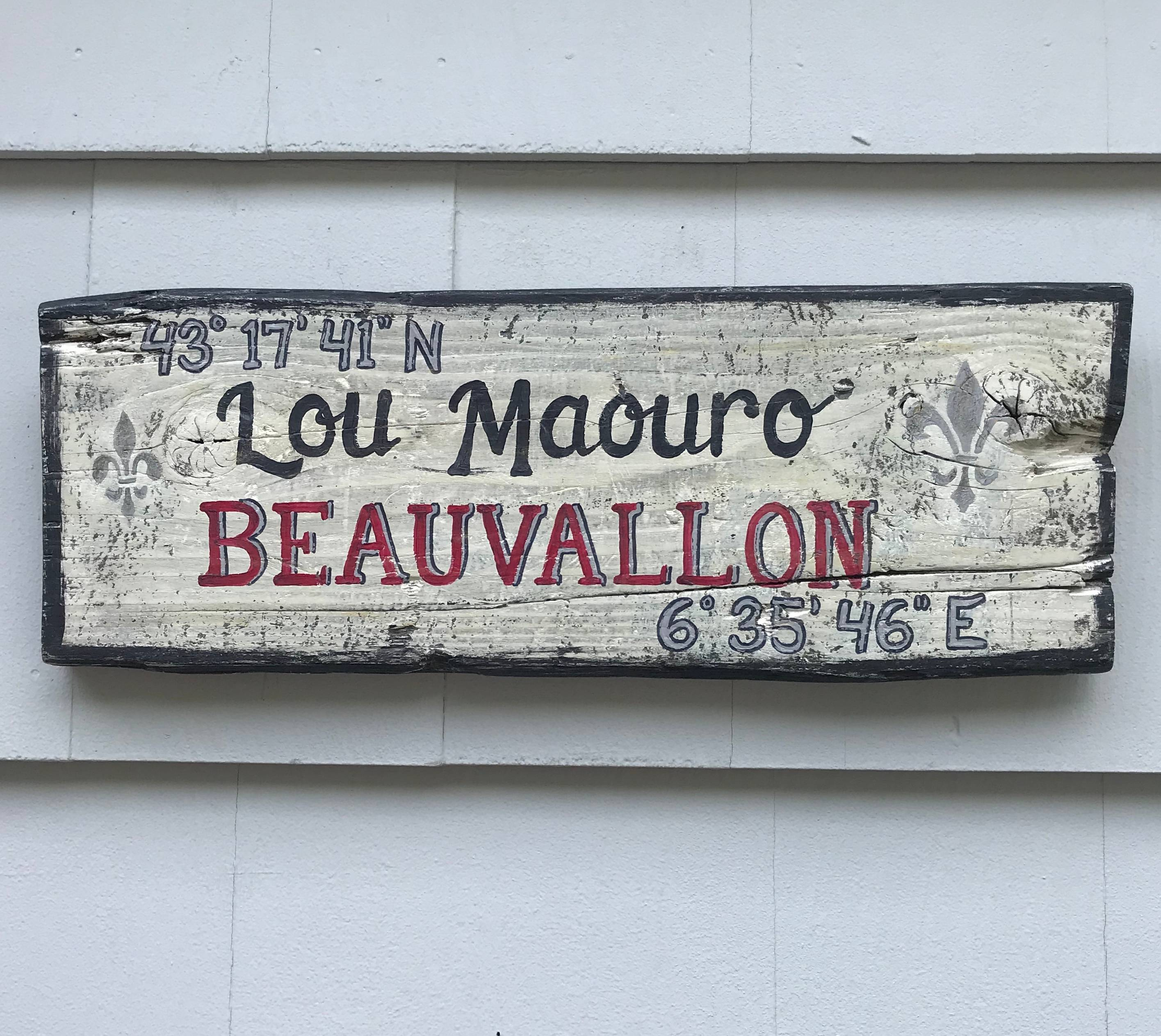 Custom French Wine Country Sign